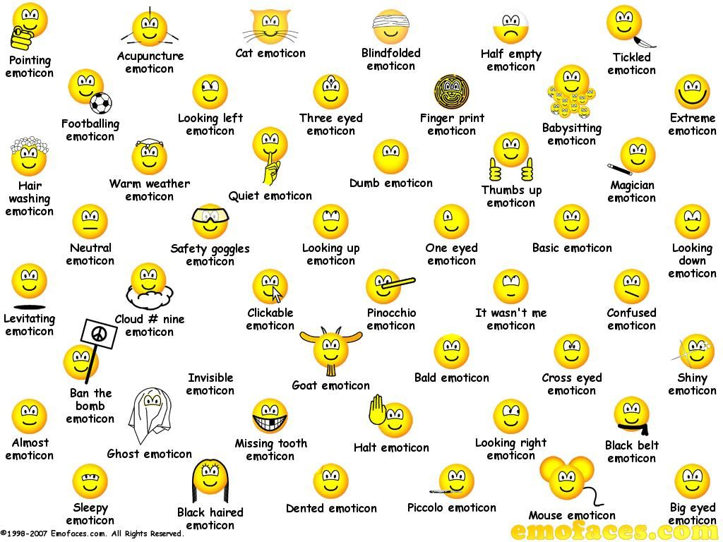Emoticons picture meanings gendiswallpaper free smiley emoticons for facebook smileys biocorpaavc Images