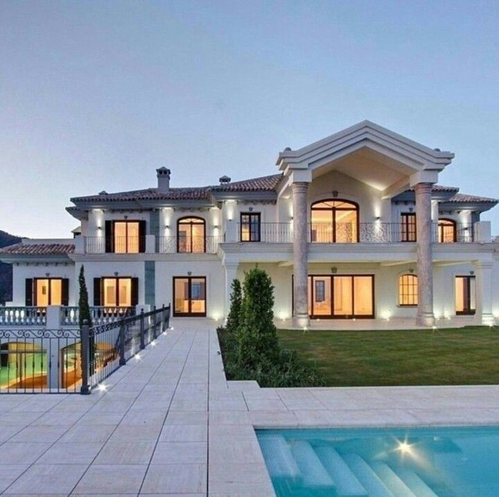 Gorgeous Two Story Home With Inground Pool Mansions Dream House Dream Mansion
