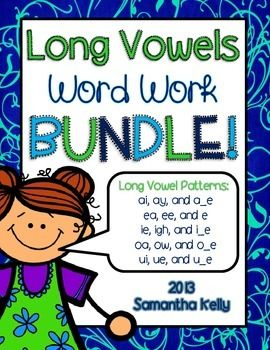 Long Vowel Word Work!  Activities for tons of Long Vowel patterns!
