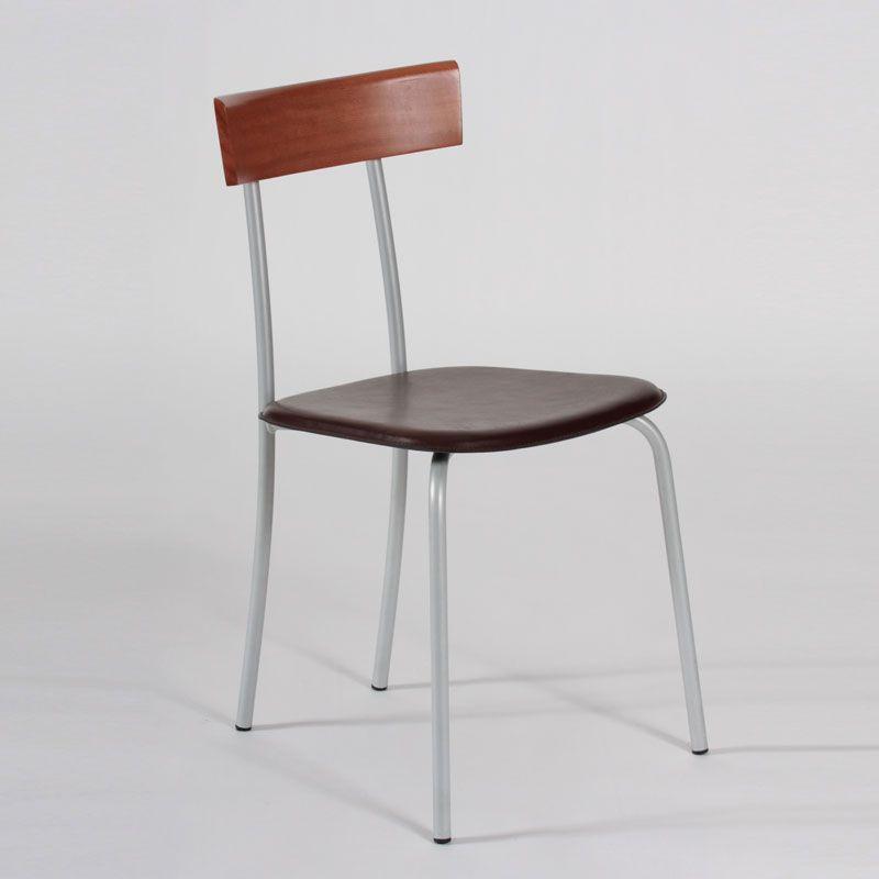 Sedie Metallo E Cuoio.Sedia Outlet Con Struttura In Alluminio E Sedile In Cuoio