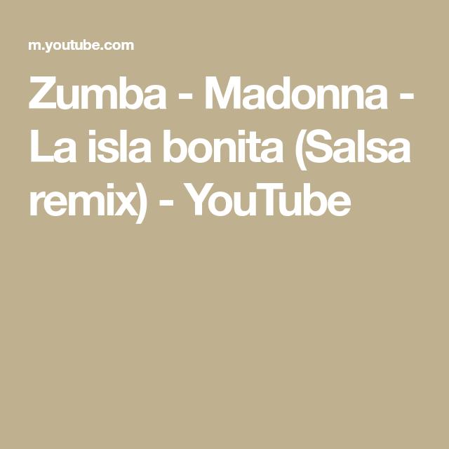Zumba Madonna La Isla Bonita Salsa Remix Youtube