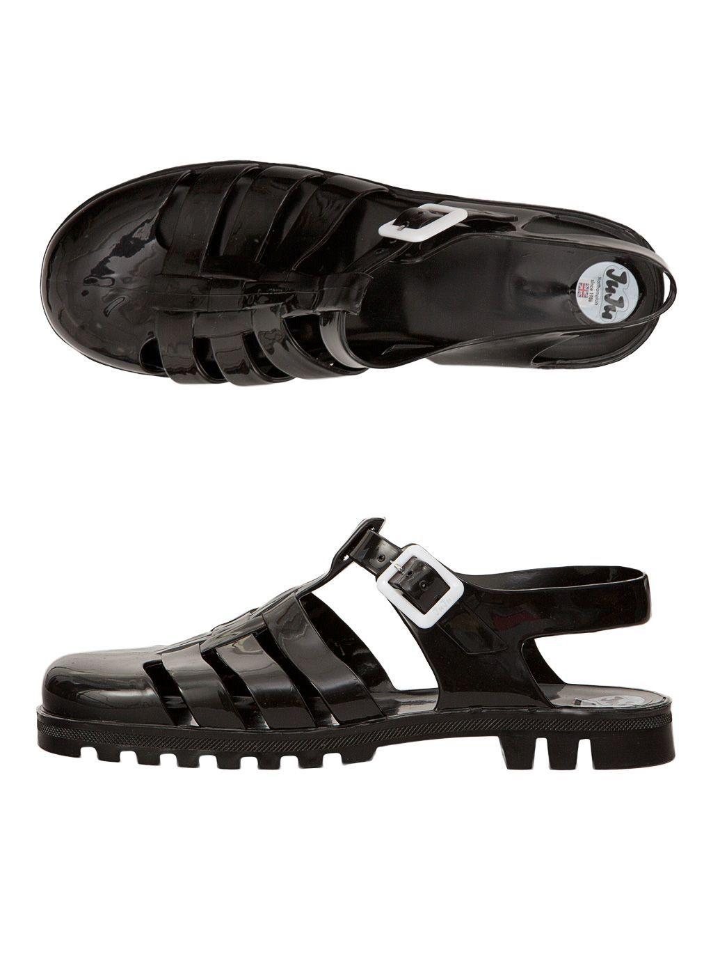 76d5cfe9b3e3 Juju Maxi Jelly Sandals.  AmericanApparel Black Jelly Shoes