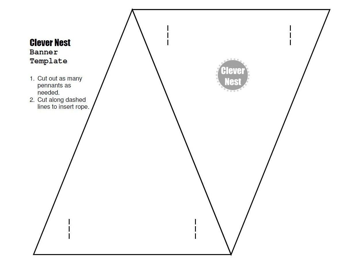 Free Downloadable Bunting Template Yer Welcome Free In Triangle Banner Template Free Cumed Org Bunting Template Pennant Banner Template Triangle Banner