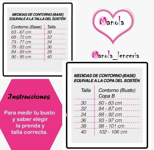 fba50c9a43c8 ♥@manola_lenceria te enseña como escoger tu talla correcta de ...