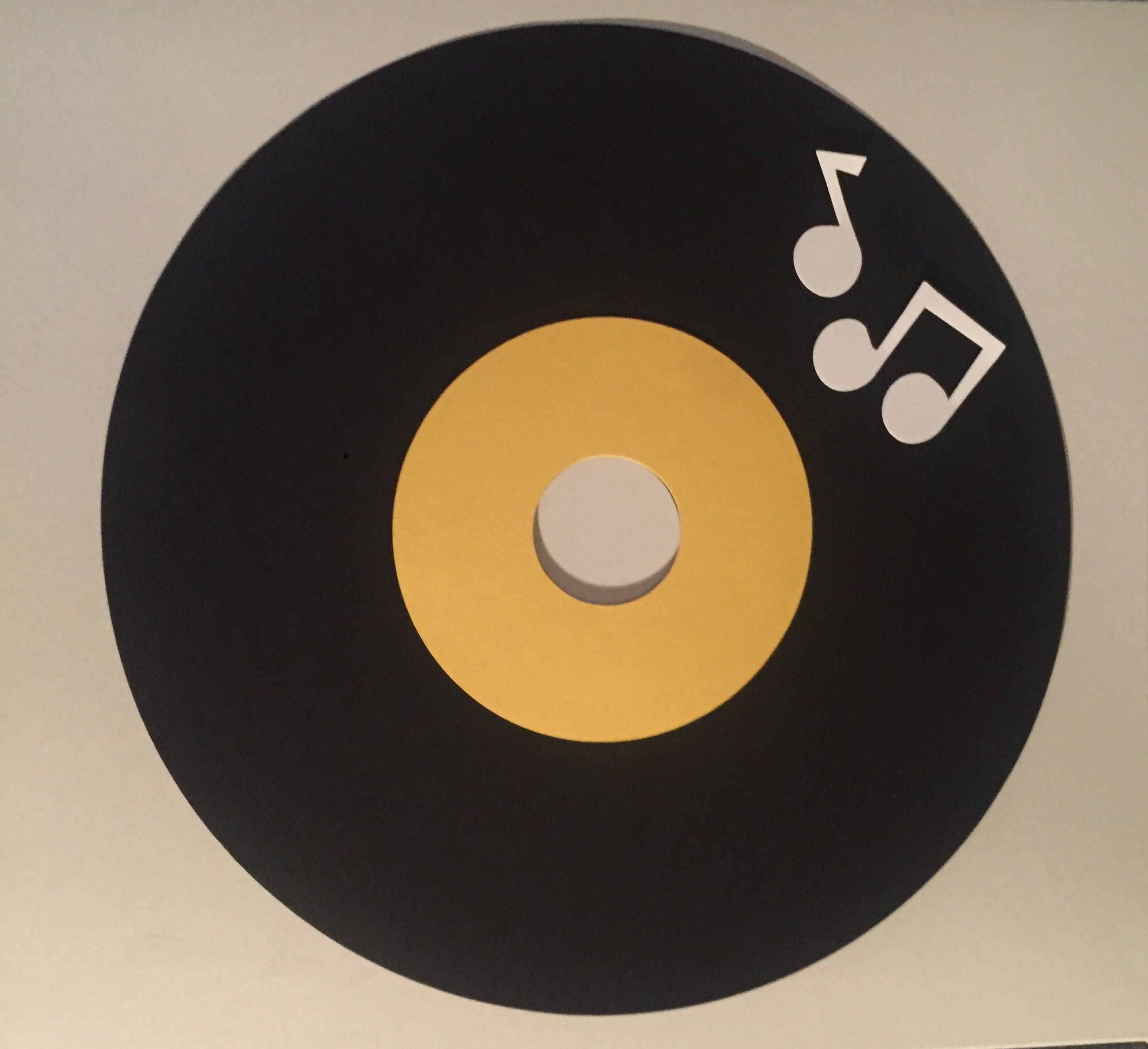 Retro record card stock placemat