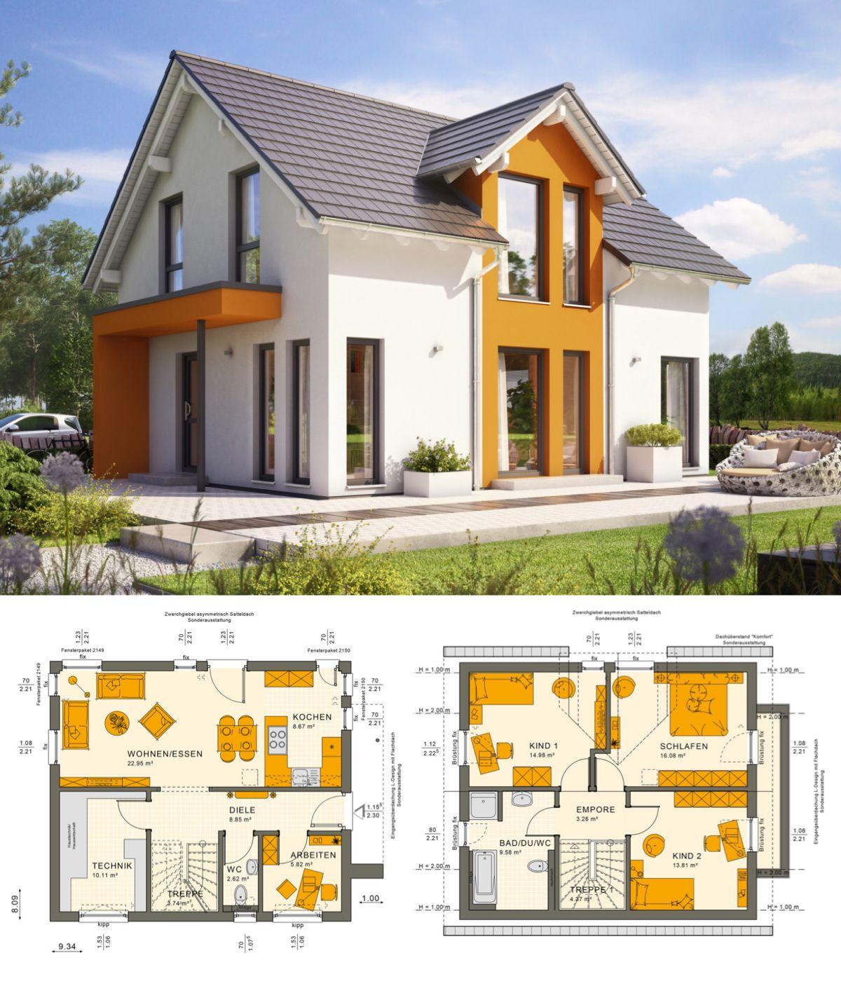 Modernes Design Haus mit Satteldach & Zwerchgiebel