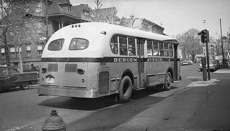 BERGEN AVE BUS,ca 1950's My Home Town JERSEY CITY,NJ