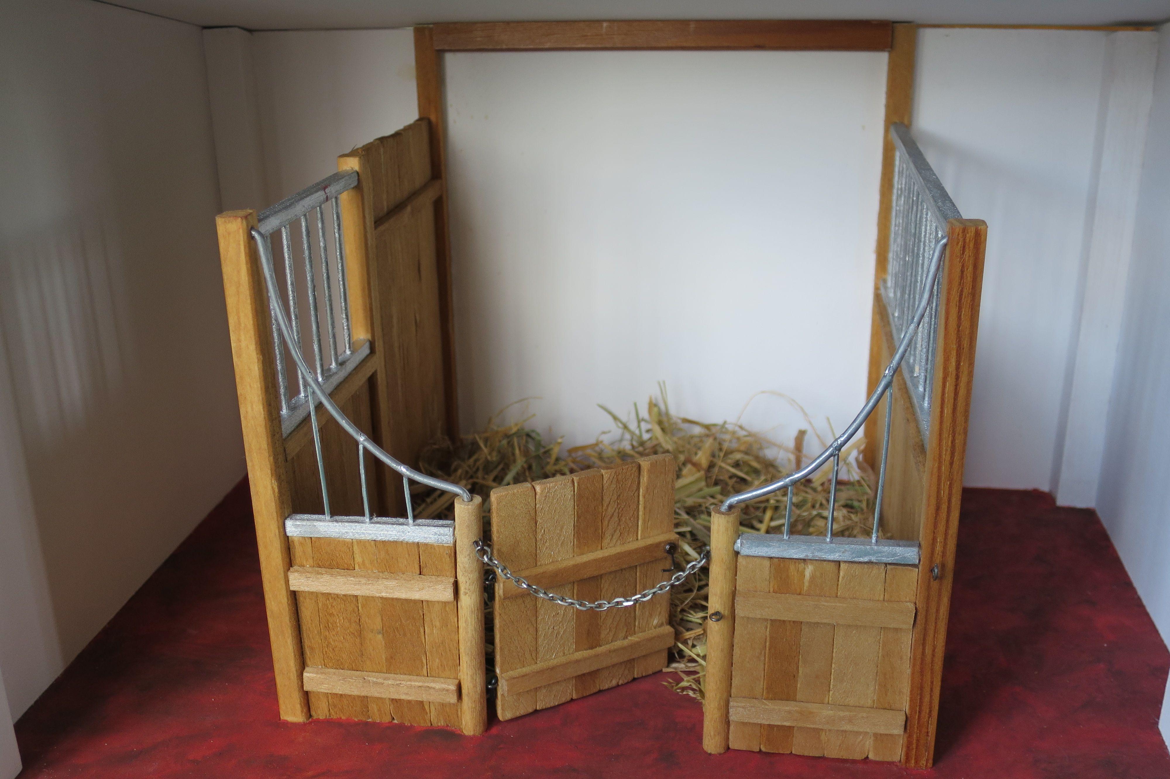 Box à chevaux réalisé pour ma petite fille | Miniature, box à ...