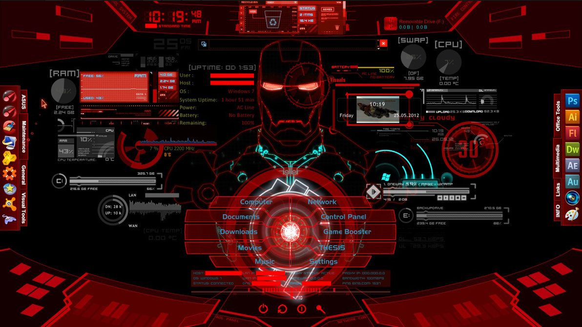 Jarvis Live Wallpaper For Pc Iron Man Wallpaper Jarvis Iron Man