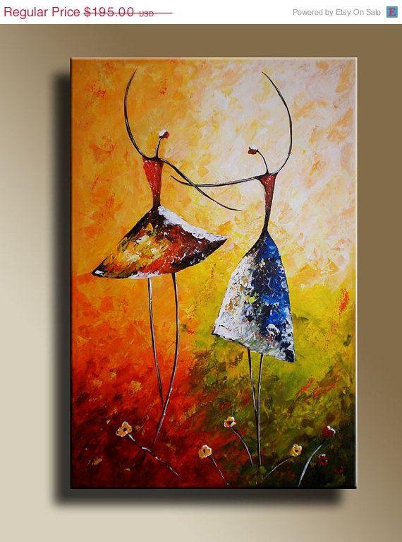 SUMMER SALE  25 OFF Original acrylic painting of by EditVorosArt, $146.25