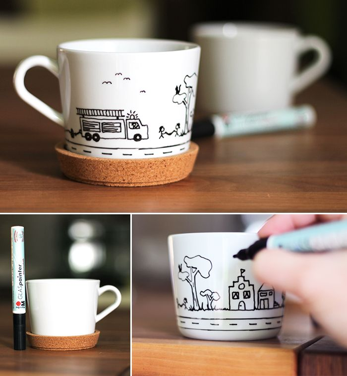 tasse bemalen mit porzellanmalstiften porzellanmaler geschirr bemalen teller bemalen. Black Bedroom Furniture Sets. Home Design Ideas