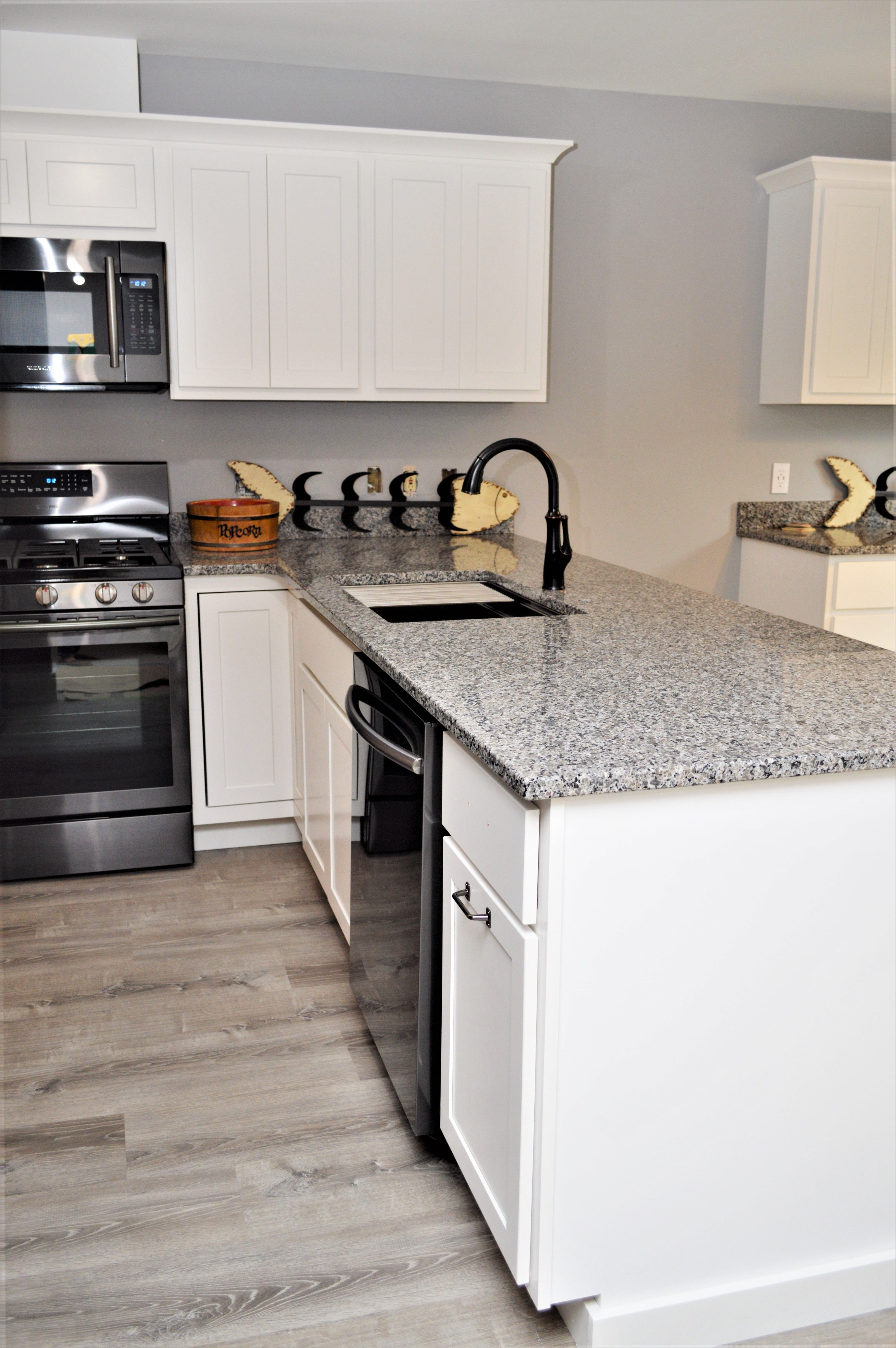 Granite Countertop Double Radius Edge Detail Silicone Backsplash Caledonia Color Lafayette