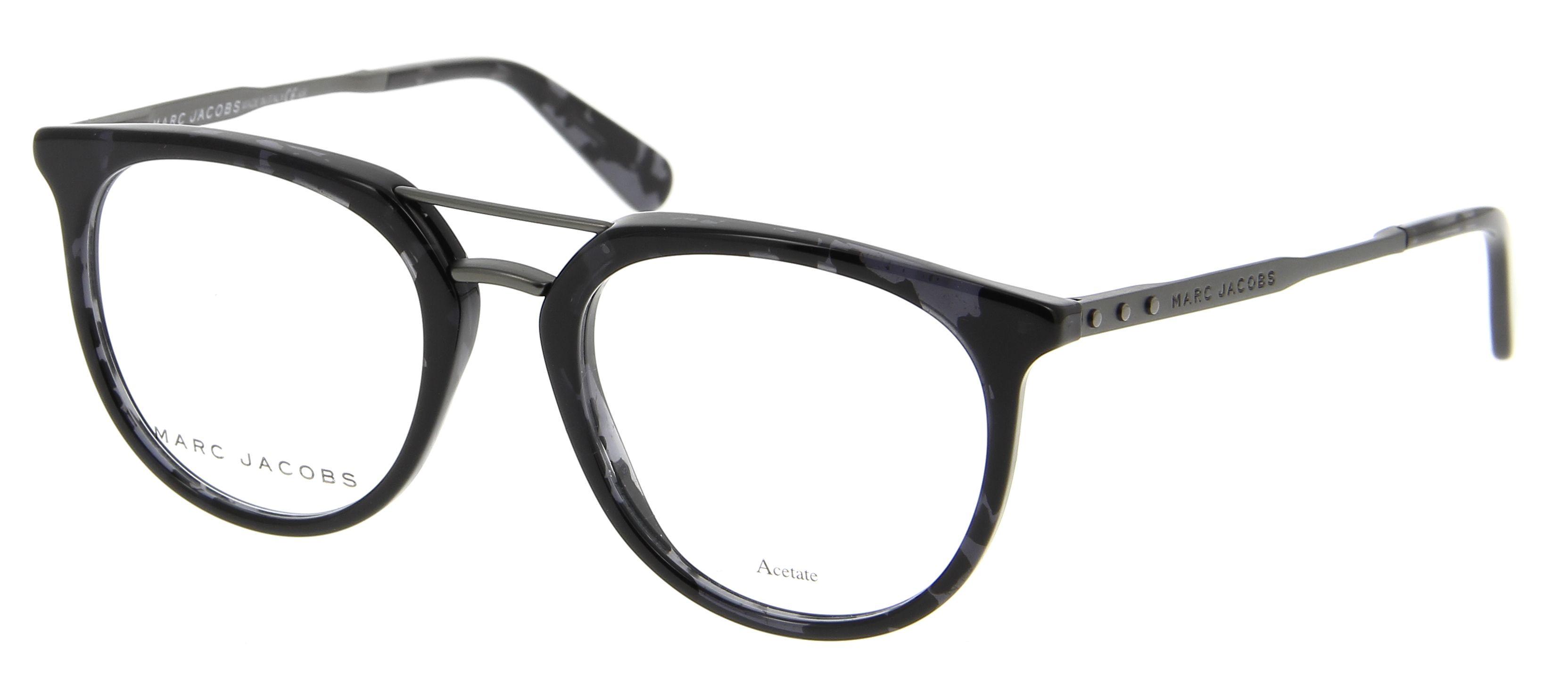 lunettes de vue marc jacobs mj 603 5t4 50 19 homme ecaille gris arrondie cercl e tendance. Black Bedroom Furniture Sets. Home Design Ideas