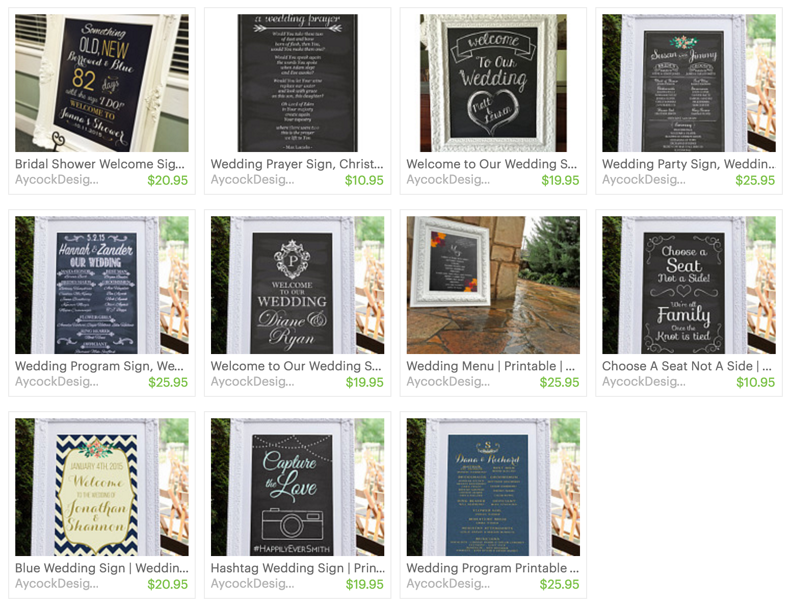 Printable Wedding Signs Bridal Shower Sign Program Welcome To Our Choose A Seat Not Side Hashtag