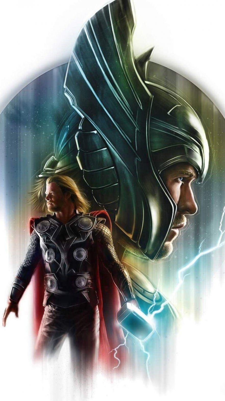 Iron Man Vs Ultron Iphone Wallpaper Thor Artwork Marvel Thor Thor Wallpaper