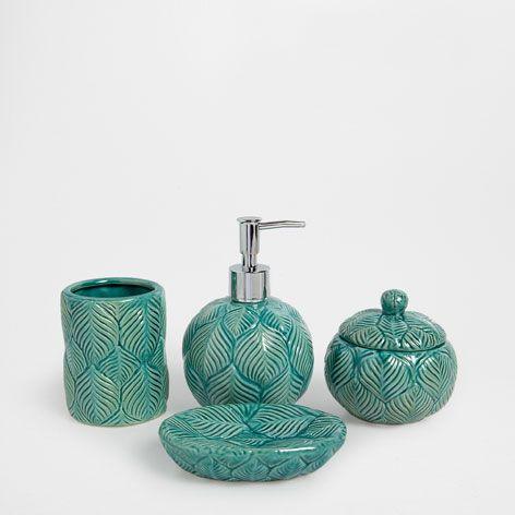 Accessori Per Bagno In Ceramica.Accessoires De Bain Ceramique Bleue Accessoires Bain Zara Home France Acessorios De Banho Zara Home Ceramica Azul