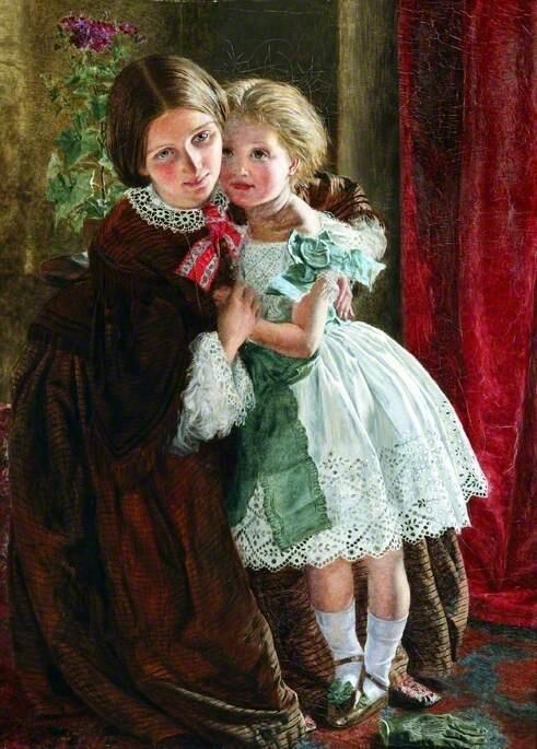 1858年、イギリスの画家Frederick Smallfieldの作品。 19世紀