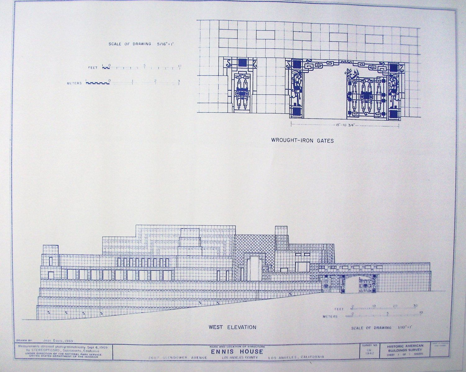 Ennis house floor plan images