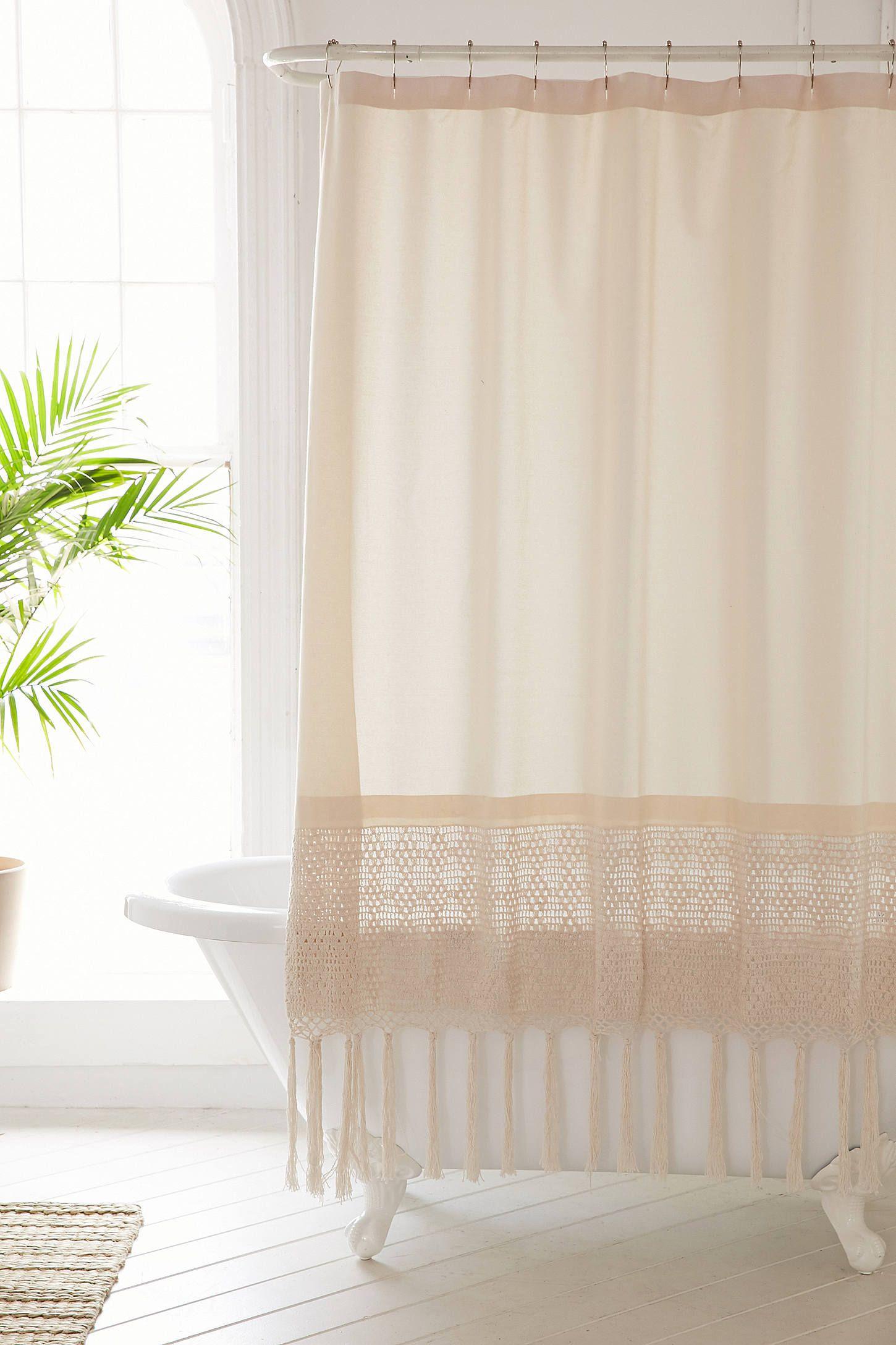 Plum & Bow Kelsi Crochet Shower Curtain