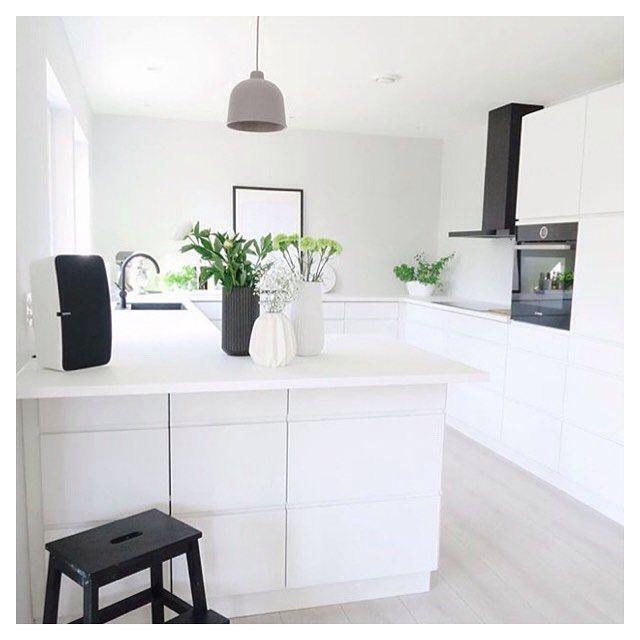Weiße Küche Wandfarbe | Great Manobykvik Solution At The Home Of Hejmonica Kvik Keukens