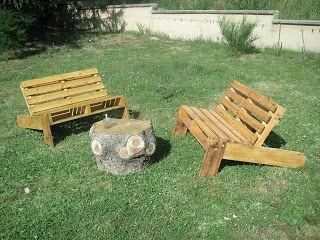 DIY salon de jardin palettes | pallets | Pinterest | Pallets, Cabin ...