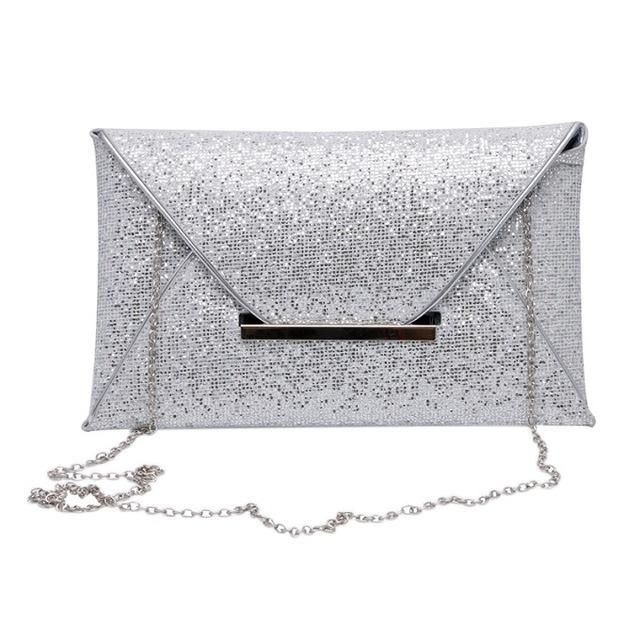 2017 Luxury Shiny Hand Bags Envelope Clutch Bag Glitter Ladies Wedding Bags  Evening Bags for Women c6a8aa59053d