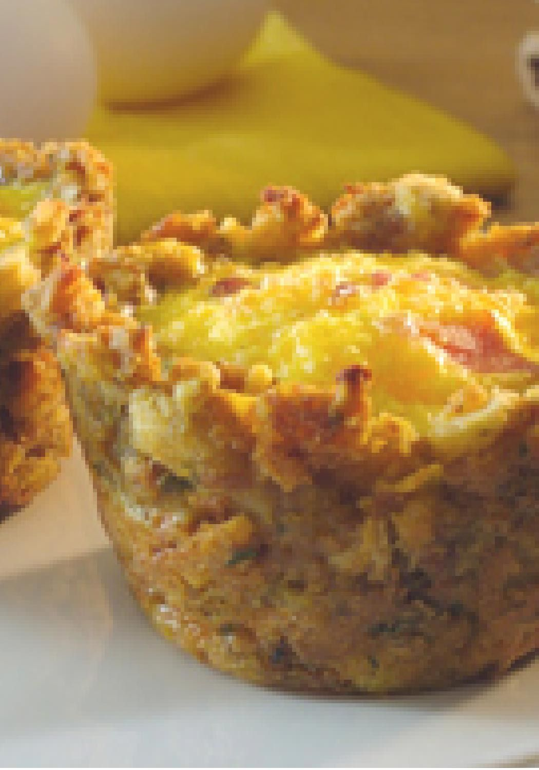 STOVE TOP Stuffin' Egg Muffin — Press STOVE TOP stuffing into a ...