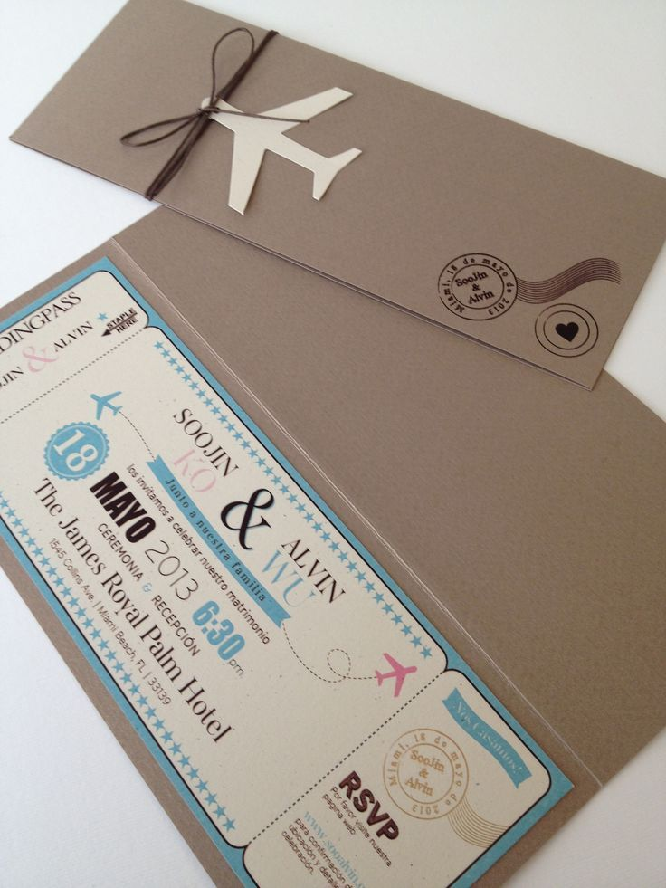 wedding invitation boarding card cerca con google