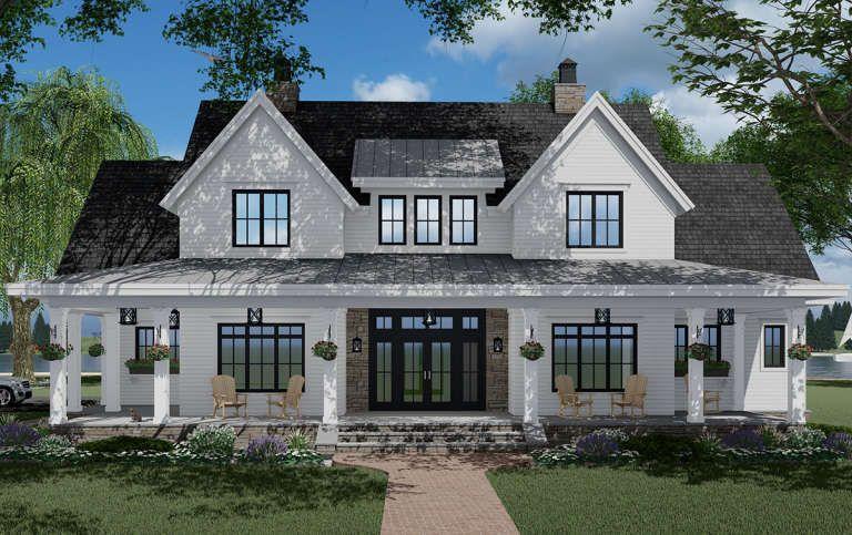 House Plan 098-00317 - Modern Farmhouse Plan: 2,57