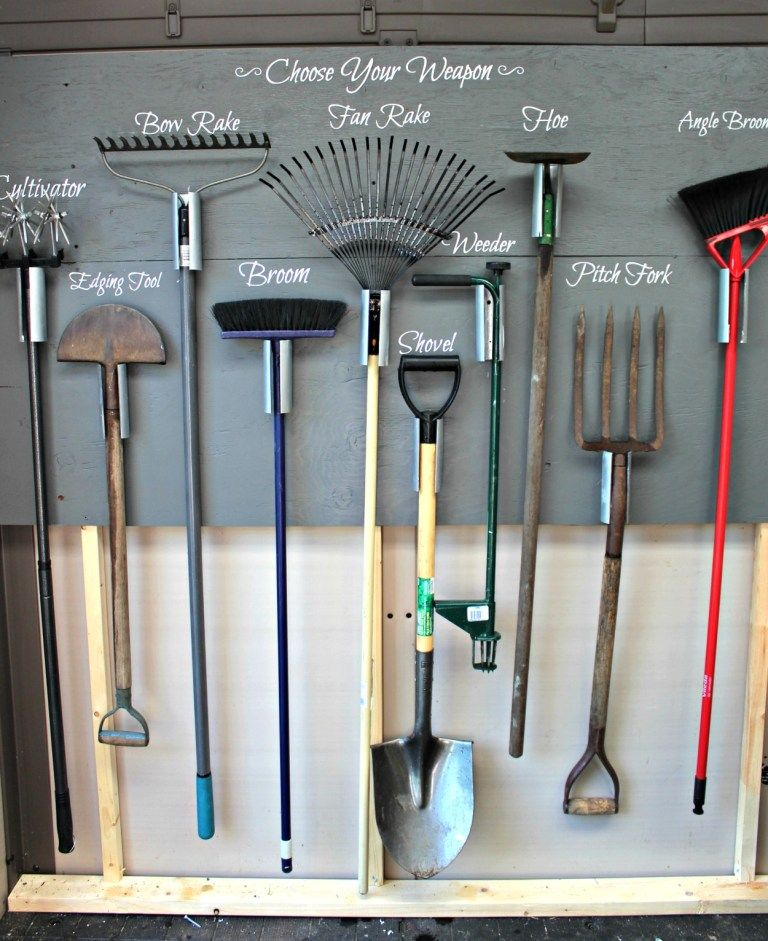 Garden Tool Storage Wall Tutorial With Images Garden Tool