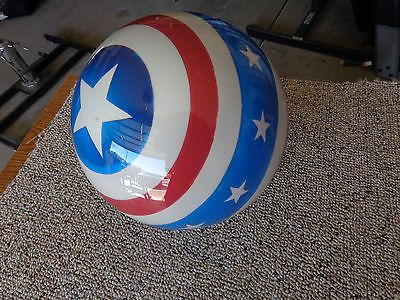 Clear Captain America Stars And Stripes Bowling Ball 14lb New In Box Captain America Star Bowling Ball Bowling