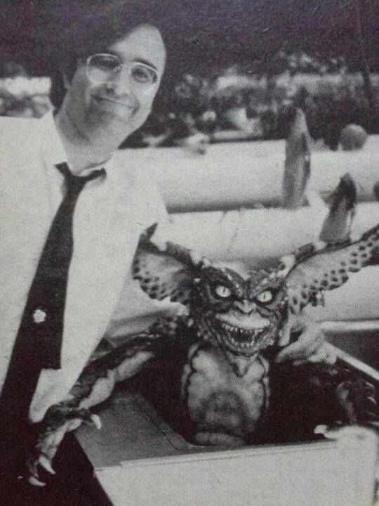 Joe Dante and one of his gremlins.