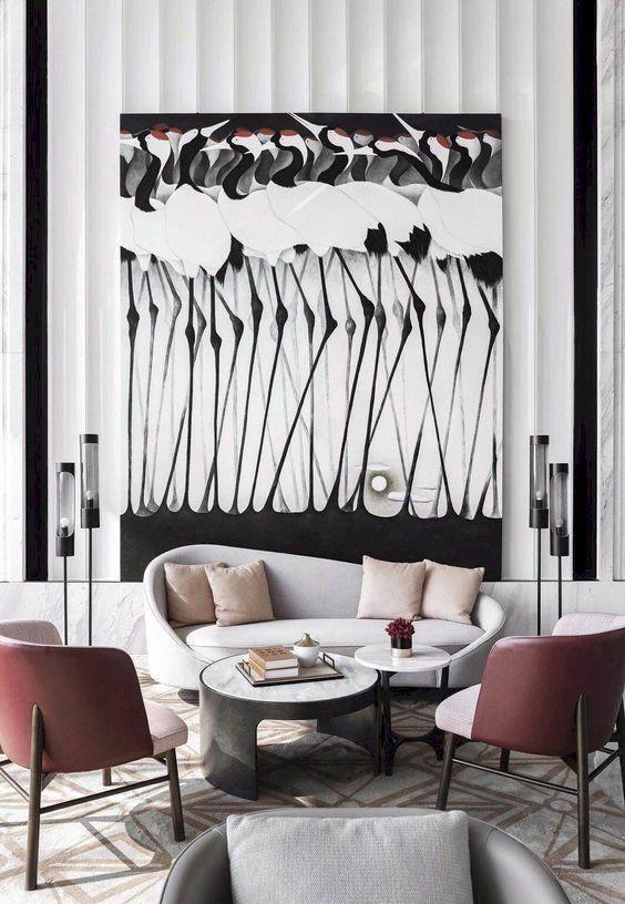 cool 46 Awesome Contemporary Living Room Decor Ideas #Homedecor #Decor #Trendingnow #Homeideas #contemporarybedroom
