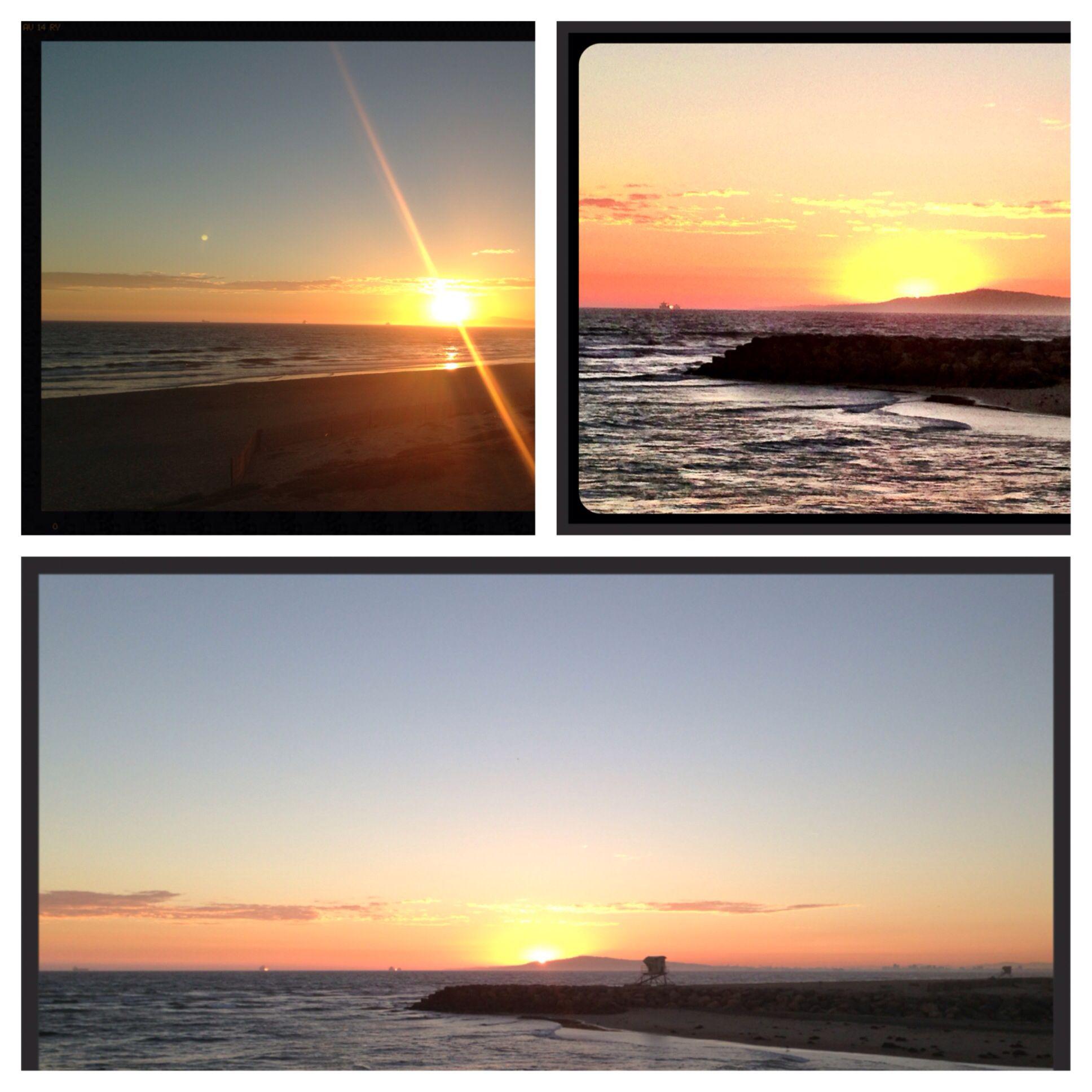 Huntington Beach, CA at sunset.