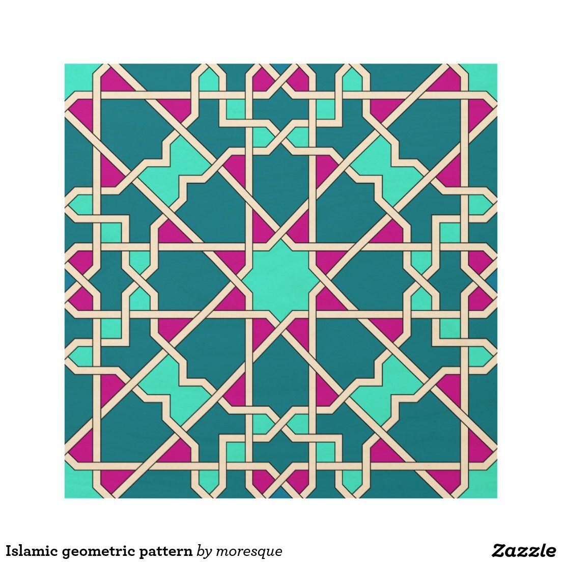 Create Your Own Wood Wall Art Zazzle Com In 2021 Islamic Patterns Patterns Canvas Art