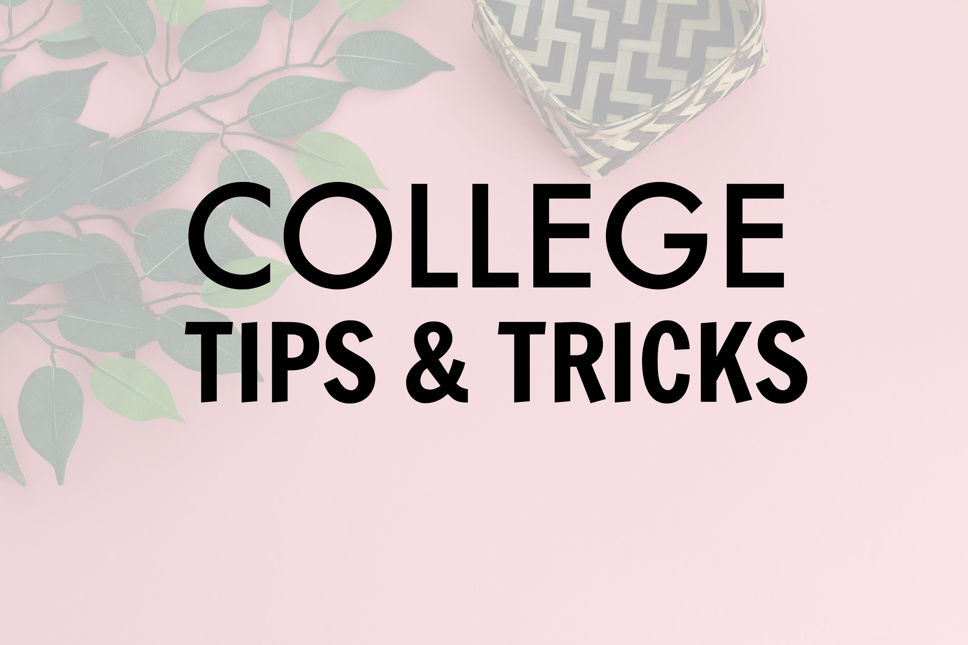 College tips and tricks to help you succeed in college and
