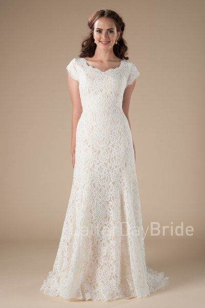 Quebec modest wedding dress at latter day bride, mermaid fit with ...