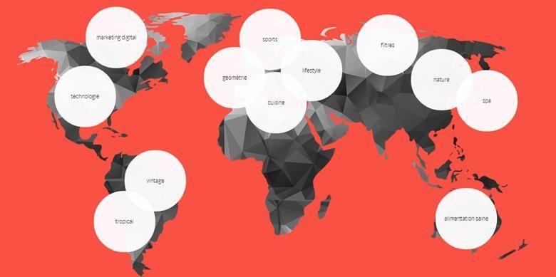 Les tendances web d'un point de vue géographique