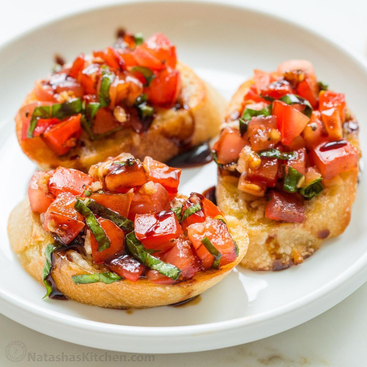 Classic Italian Bruschetta with Tomatos