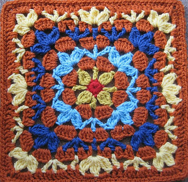 Ravelry: Catalina Afghan Square by Julie Yeager | cuadrados manta ...