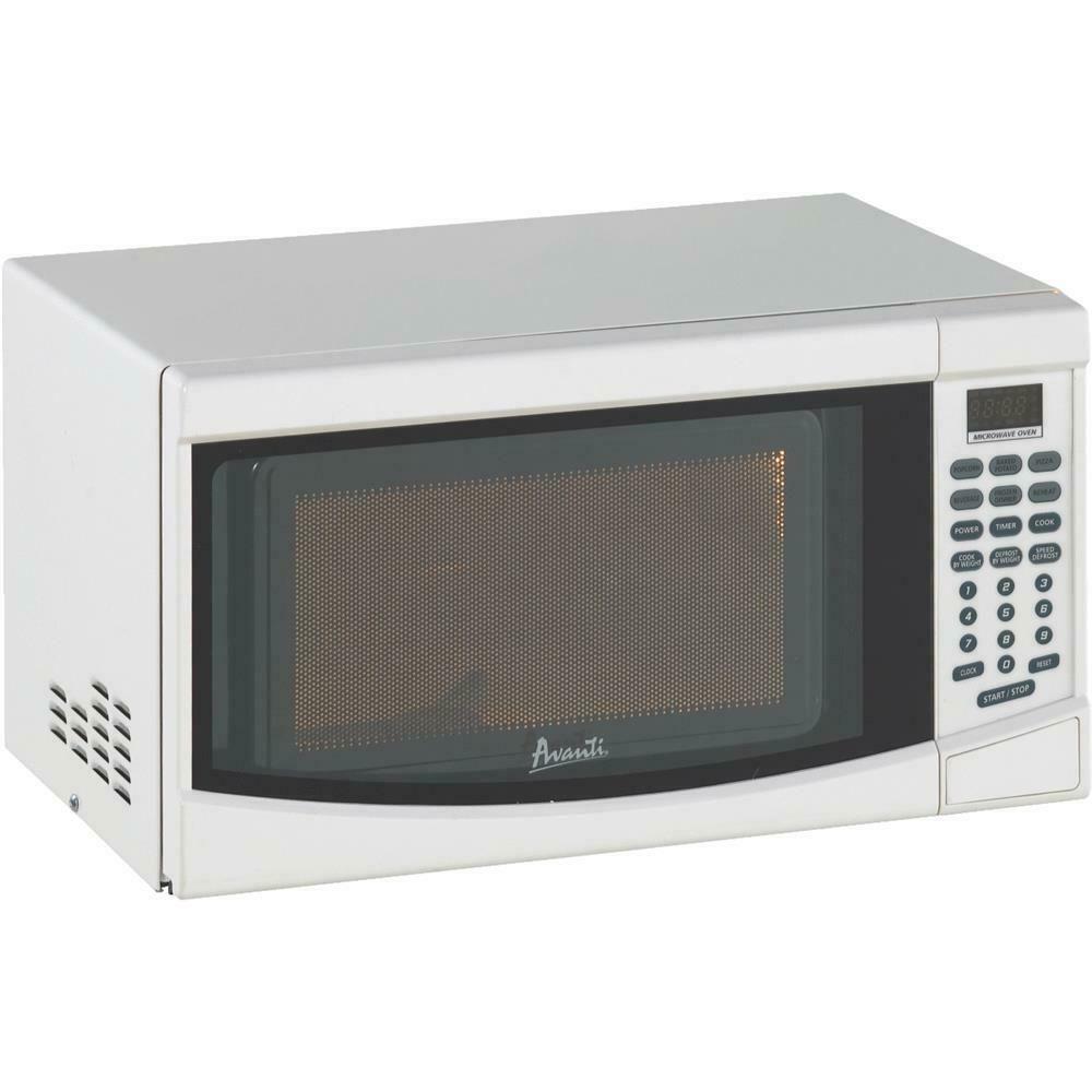 Ebay Sponsored Avanti 0 7 Cu Ft White Countertop Microwave 1