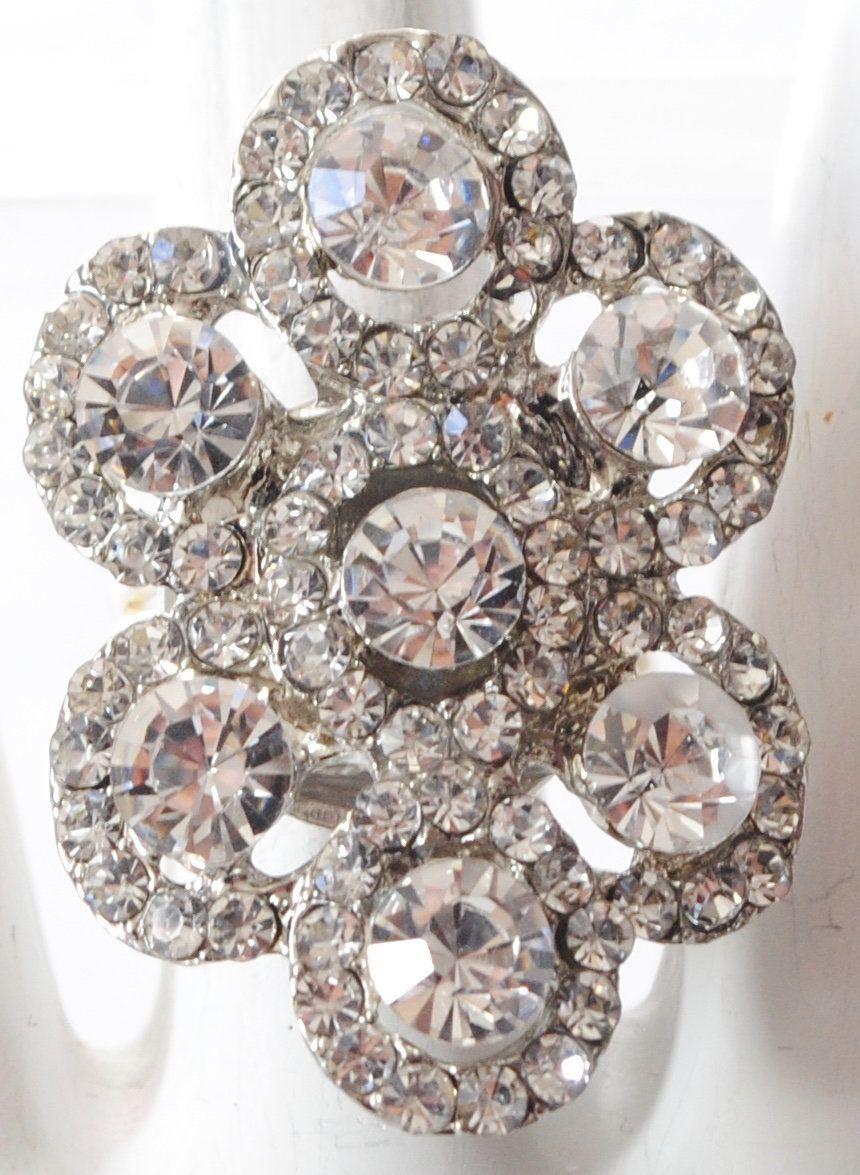 Rhinestone Cocktail Ring/Wedding Jewelry/Statement Ring