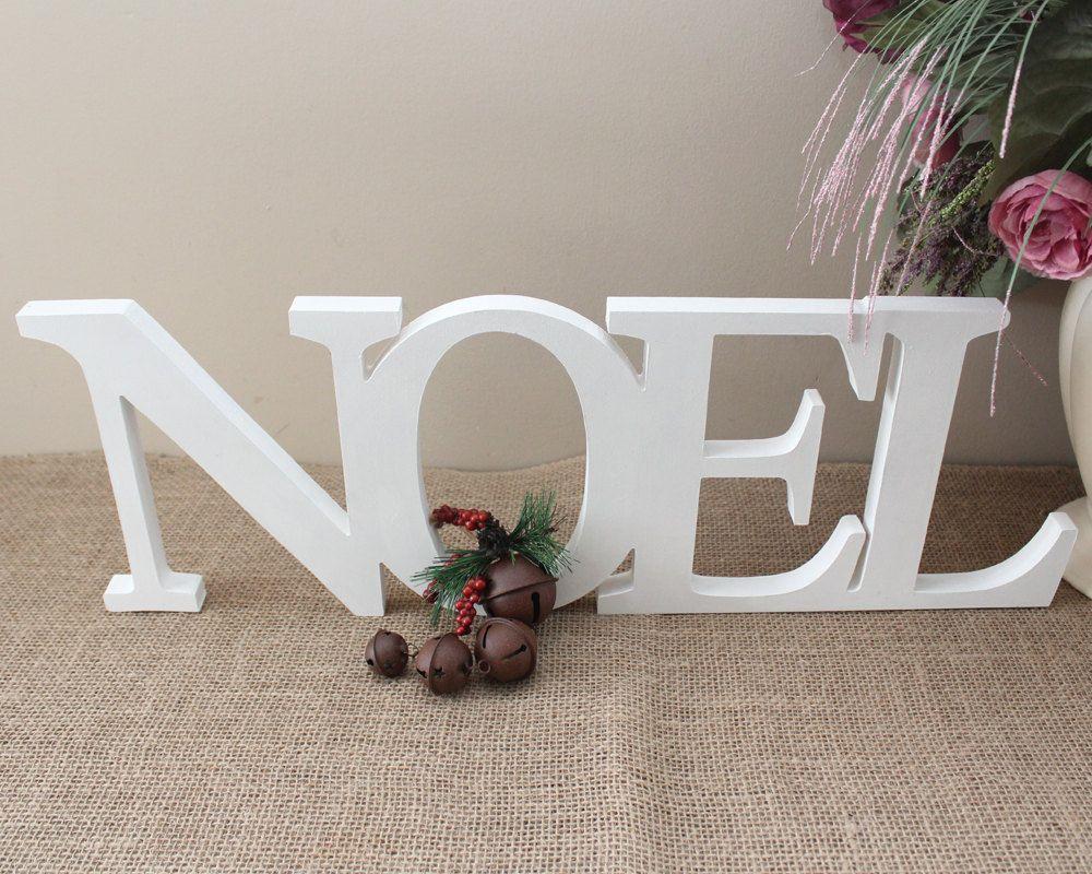 Noel Free Standing 10 Letters Noel Christmas Decor Noel Letters