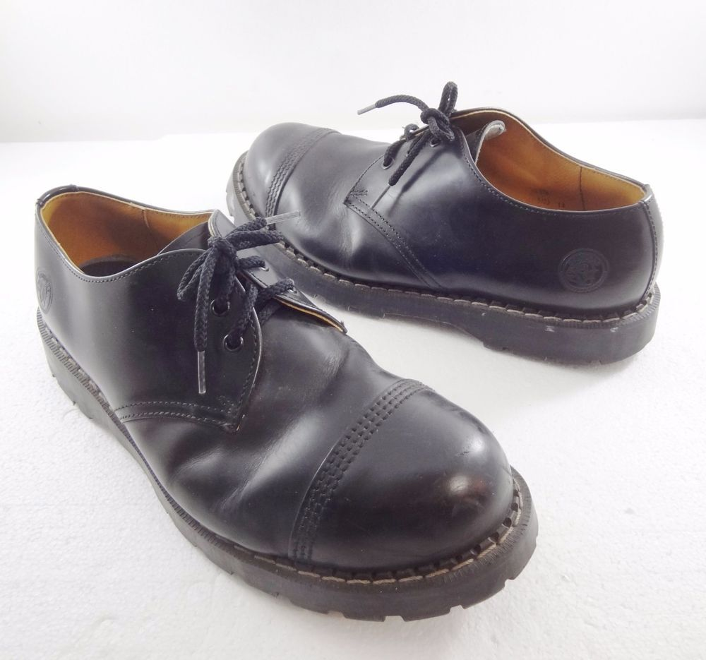 fee1438819 Grinders Black Leather Regent Steel Toe Oxford Shoes Mens Size US 13 UK 12   Grinders  Oxfords