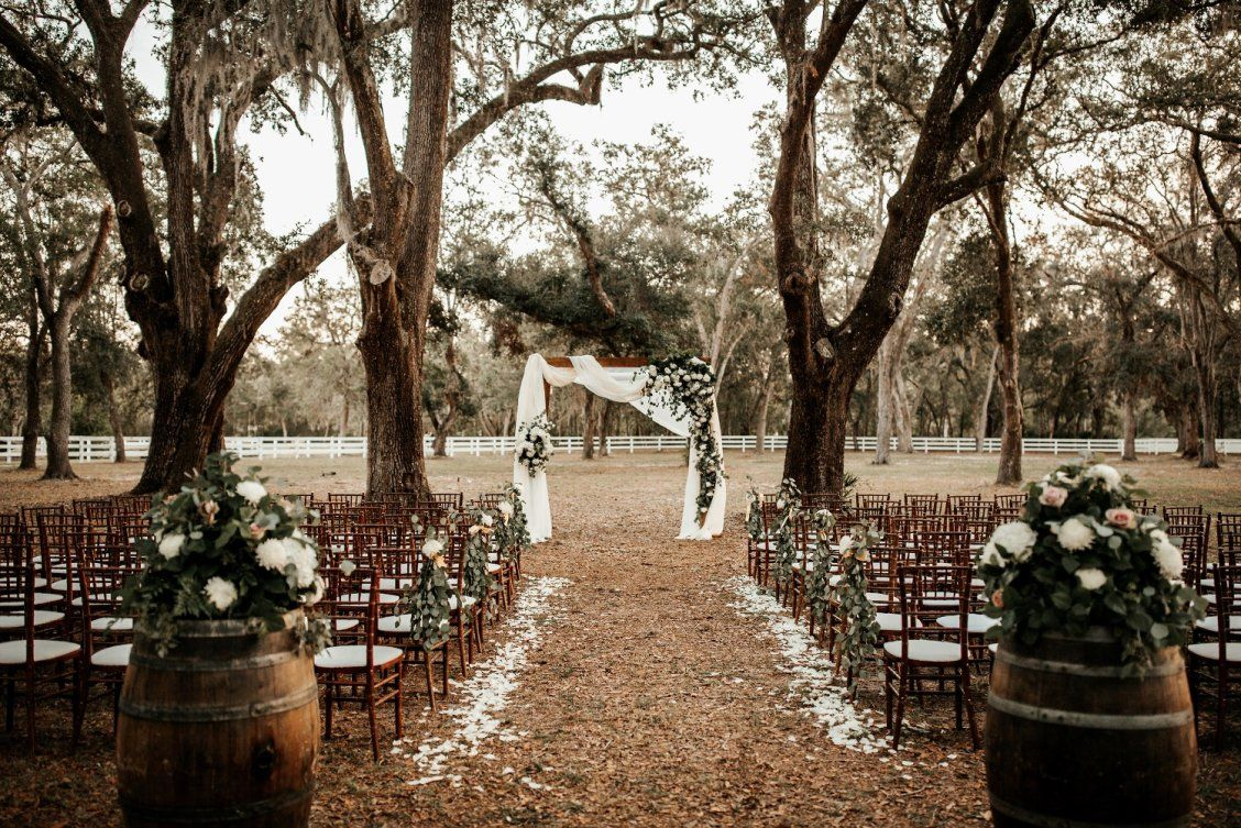 A Whimsical November Wedding In Florida With A Huge Bridal Party