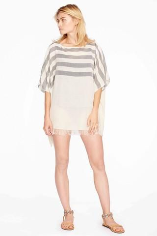 Laura Striped Tunic by Home & Loft. Hand-loomed 100% Turkish cotton tunic made in Turkey.