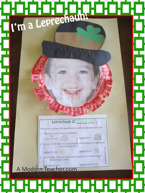 Day 2 of the St. Patrick's Day Blog Hunt. From http://www.amodernteacher.com
