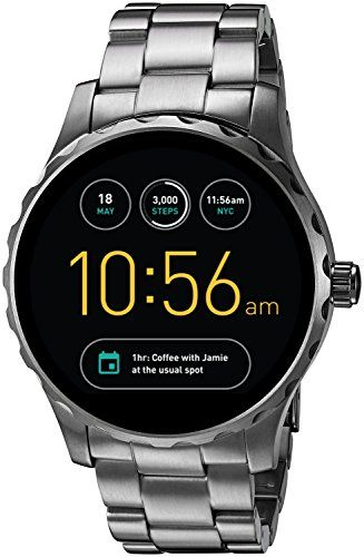a289905aa4e48 Fossil Q Marshal Gen 2 Smoke Stainless Steel Touchscreen Smartwatch FTW2108  - Luxury Beauty Store
