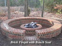 Brick Circle Firepit Brick Fire Pit Outdoor Fire Pit Fire Pit Backyard