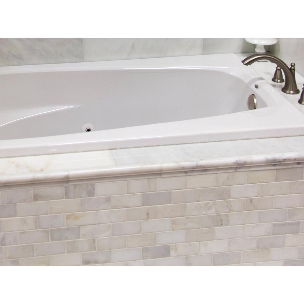 Carrara White Brick Marble Mosaic - 12in. x 12in. - 931100241 ...